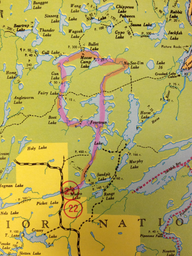 Free Canoe Trip Routing Boundary Waters Quetico BWCA Routes - Bwca entry point map