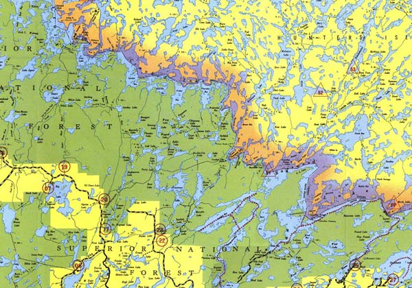Boundary Waters Entry Points BWCA Access Points - Bwca entry point map